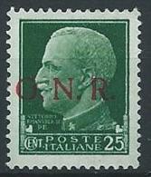 1944 RSI GNR VERONA 25 CENT MNH ** - ED852-9 - 4. 1944-45 Repubblica Sociale