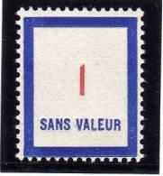 FRANCE FICTIF N° F100 ** Timbre Neuf Gomme D´origine Sans Trace De Charnière - TB - Finti