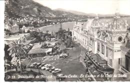 POSTAL    D 28.-  PRINCIPADO DE MONACO - MONTE-CARLO    -CASINO Y EL CAFE DE PARIS - Monte-Carlo