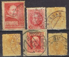 Lote 6 Sellos Provincia GUADALAJARA, Alfonso XIII Y Republica º - Usati