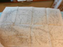 Carte ETAT MAJOR 1835 ARCIS CONNANTRAY  COOLE COBEIL LESMONT CHAUCHIGNY GELANNES SEZANNE VERDEY - Dokumente
