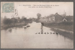 59----WATTEN--Rue De St Omer Coté De La Gare--Vue Prise Du Double Pont Fixe-- - Sonstige Gemeinden