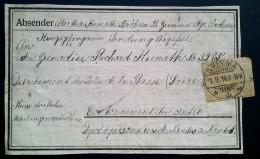 ETIQUETTE FELDPOST ENVOI COLIS PRISONNIER DE GUERRE NANTES ISLES DE BASSE LOIRE - Postmark Collection (Covers)