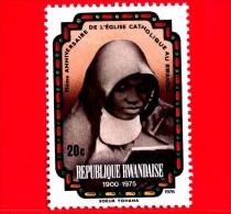 RWANDA  - 1976 - 75 Anni Della Chiesa Cattolica Del Rwanda - Soeur Yohana - 20 - Rwanda