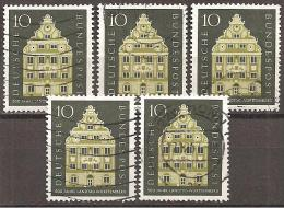 = BRD 1957 - Michel 279 O = 5x - Used Stamps