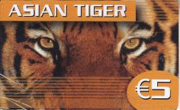 GREECE - Asian Tiger, Foneeze Prepaid Card 5 Euro, Used - Greece