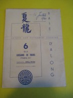 Carte Menu/ à La Baie D'Along/ Chinese And Vietnamese Cooking/ Paris /1960   MENU32 - Menus