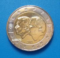 2 Euro Commemorative Belgique 2005 Anniversaire De L'union Belgo-luxembourgeoise PIECE NEUVE UNC - Belgium