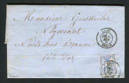 Lettre De Lyon Pour Nuits Sous Beaune 1876 - 1877-1920: Semi Modern Period