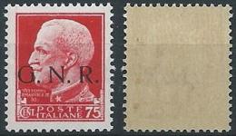 1944 RSI GNR BRESCIA 75 CENT I TIPO MNH ** - ED859 - Ongebruikt