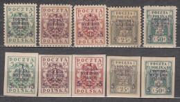 Poland 1919 Mi# 118-122 Standard Philatelic Exhibition MNH * */ MH * - Nuevos