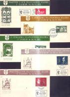 122.YUGOSLAVIA 1951 Philatelic Exhibition Zagreb Croatia 5 Covers - 1945-1992 Socialist Federal Republic Of Yugoslavia