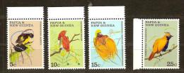 Papouasie Et Nouvelle-Guinée Papua 1970 Yvertn° 174-77 *** MNH Cote 12 Euro Faune Oiseaux Vogels Birds - Papouasie-Nouvelle-Guinée