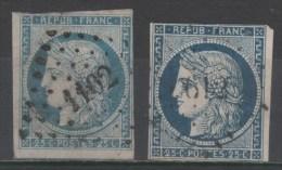 Cérès  N° 4/4a Avec Oblitèration Losange 1102/612, Voir Etat - 1849-1850 Ceres