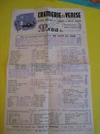 Menu / Crémerie De Venise / Congrés / Marseille /  1955      MENU42 - Menus