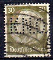 GERMANIA REICH 1933  PERFIN  Cat. Unificato Nr.494 Presidente Hindenburg  USATO - Ohne Zuordnung