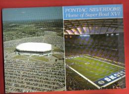 JFU-13 Pontiac Silverdome Home Of Super Bowl XVI. Bowling. Football. Baseball.Postally Used In 1994 To Switzerland - Bowling