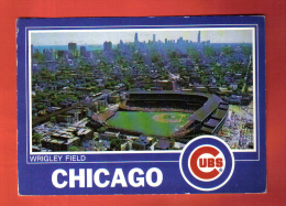 JFU-16 Wrigley Fields  Chicago Cubs, Football, Soccer. Baseball. Postally Used In 1988 To Zürich - Baseball