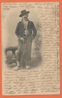 N14/657, Bressan, Précurseur, Circulée  1901 - Uomini