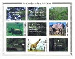 rdcF04 R.D. Congo 2005 Giraffe Eleplant Rhinocer s/s