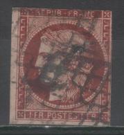 Cérès  N° 6B Avec Oblitèration Grille De 1849, Voir Etat - 1849-1850 Ceres