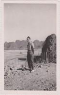 Carte Photo Unique Asie,viet-nam,la Baie D´along,baie De Ha Long En Travaux Décembre 1951,ingénieur Français,rare - Photographs