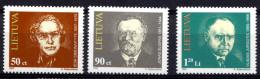 LITUANIE LIETUVA 1997, PERSONNAGES CELEBRES, 3 Valeurs, Neufs / Mint. R441 - Litauen