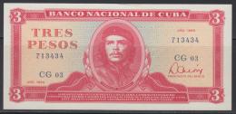 AF495 CUBA 3$ 1985 UNC. ERNESTO CHE GUEVARA. UNSUED PLANCHA