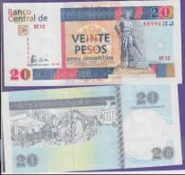 AF506 CUBA 20$ CUC 2008  UNC. PESOS CONVERTIBLES. PERFECT PLANCHA.
