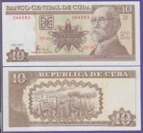 AF520 CUBA 10$ UNC 2003. MAXIMO GOMEZ BAEZ. REPUBLICA DOMINICANA. SANTO DOMINGO.