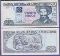 AF521 CUBA 20$ UNC 2012. CAMILO CIENFUEGOS