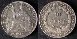 INDOCHINE  10 Cent 1937  INDOCINA  INDOCHINA  PORT OFFERT - Vietnam