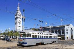 San Francisco Tramway Streecar Cablecar  St.Louis Built 1946 # 1070 - Tram