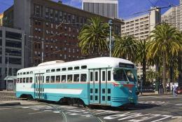 San Francisco Tramway Streecar Cablecar  St.Louis Built 1946 # 1076 - Tram