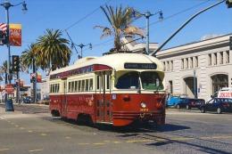 San Francisco Tramway Streecar Cablecar  St.Louis Built 1946 # 1074 - Tram