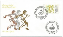 Allemagne RFA 1984 1038 FDC Lancement Du Disque - Jeux Olympiques - Diskus - Winter 2016: Lillehammer (Youth Olympic Games)