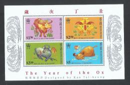 Hong Kong 1997 Zodiac, Cattle The Year Of The Ox Souvenir Sheet MNH - Neufs