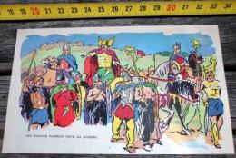 IMAGE TRES BELLE ILLUSTRATION COULEUR DE SIRIUS (TIMOUR) LES GAULOIS PARTENT POUR LA GUERRE - Old Paper
