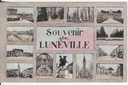 """Carte Postale Fantaisie Multi-Vues """" Souvenir """" De LUNEVILLE (Meurthe Et Moselle) VOIR 2 SCANS - Luneville"""