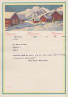 Suisse 1947. Télégramme De Luxe LX5. Paysage De Montagne, Chalets En Bois - Altri