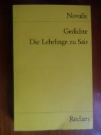 Gedichte, Die Lehrlinge Zu Sais (Novalis / Friedrich Von Hardenberg) De 1984 - Livres, BD, Revues