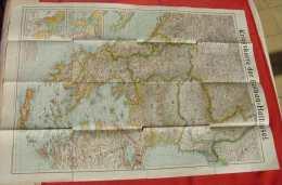 (1046946) Landkarte / Kriegskarte Der Balkan-Halbinsel, Velhagen U. Klasing, Siehe Bitte Beschreibung U. Bilder - 1914-18