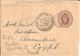 SA-C014/ KAP DER GUTEN HOFFNUNG -  Wappen (Streifband / Wtapper) To Alexandria And Re-directed To Ramleh - Südafrika (...-1961)