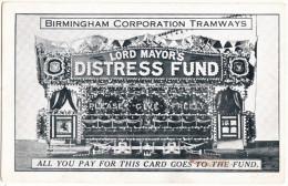 BIRMINGHAM CORPORATION TRAMWAYS - LORD MAYOR´S DISTRESS FUND 'Please Give Freely' - England - Strassenbahnen