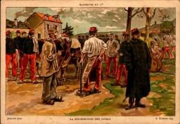 CHROMO HACHETTE ET Cie  16/11 CM....LA DISTRIBUTION DES VIVRES - Artis Historia