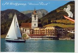 """ST. WOLFGANG - Hotel """"Weisses Rössl""""  , Werbekarte - St. Wolfgang"""