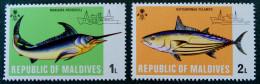 POISSONS D'EAUX PROFONDES 1973 - NEUFS ** - MI 442/43 - Maldive (1965-...)