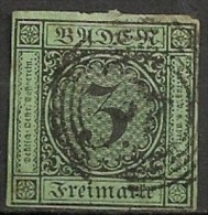Timbres - Allemagne - Anciens Etats - Bade - 1853-1857 - 3 R - - Baden