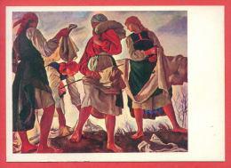 151884 / UKRAINE Art  Zinaida Evgenevna Serebryakova -  WOMAN Whitening Canvas - Russia Russie Russland - Paintings
