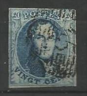 Belgique - Médaillon N°7V5 (Balasse) - Retouche Importante Feuillage Inf.gauche - Filigrane Lettres I Et M Partielles - 1851-1857 Medallions (6/8)